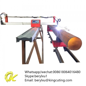 good price hot sale Kingcutting portable cnc plasma tube cutter china supplier